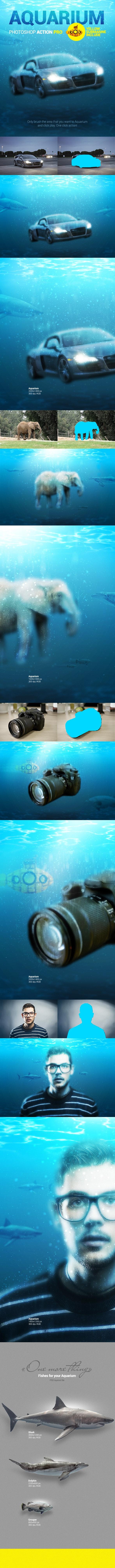 Underwater - Aquarium - Photoshop Action - Photo Effects Actions