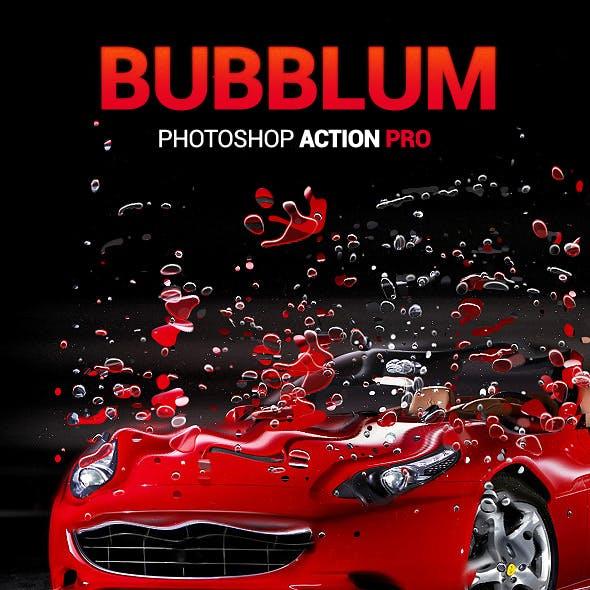 Bubbles Dispersion - Bubblum - Photoshop Action