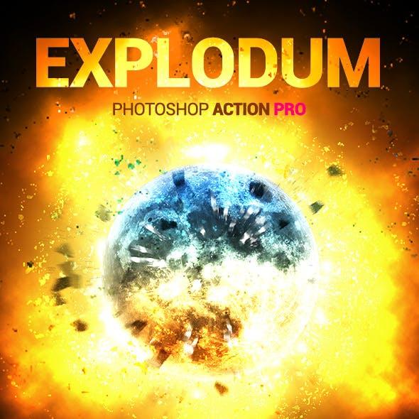 Fire Explosion - Explodum - Photoshop Action