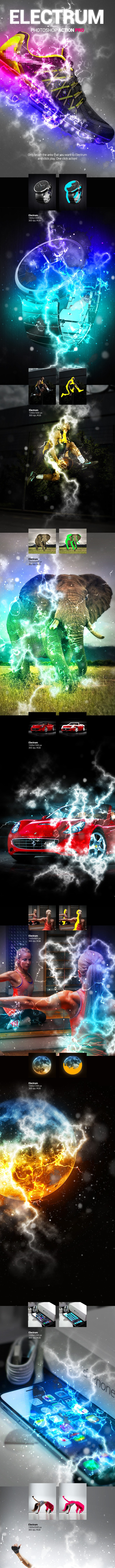 Electric Lightning - Electrum - Photoshop Action - Photo Effects Actions