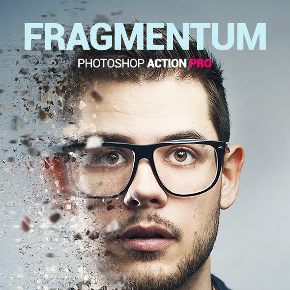 Fragments Dispersion - Fragmentum - Photoshop Action