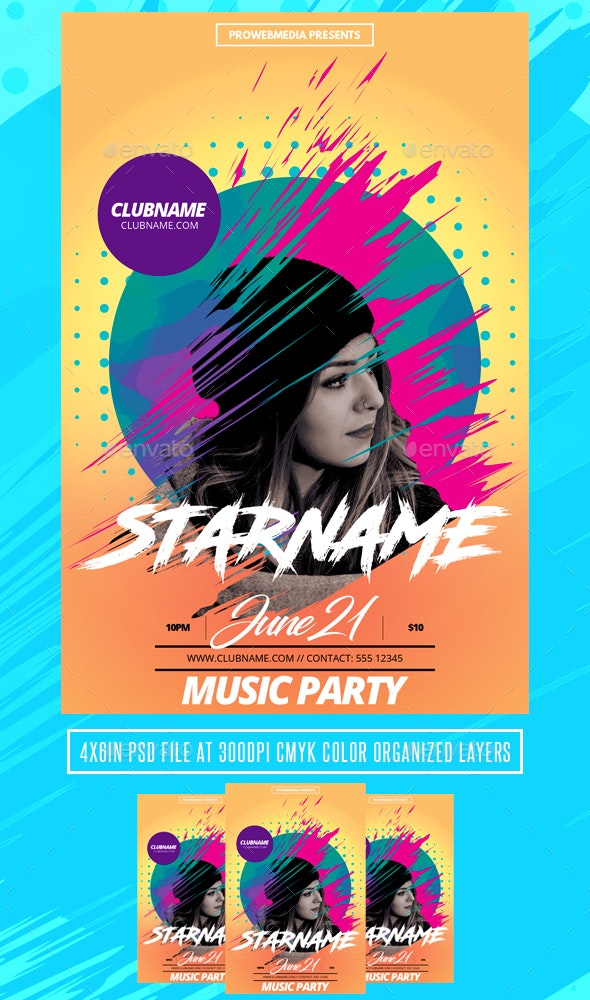 DJ Party Flyer Template - Events Flyers