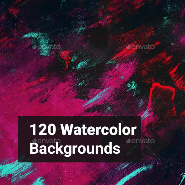 120 Watercolor Backgrounds