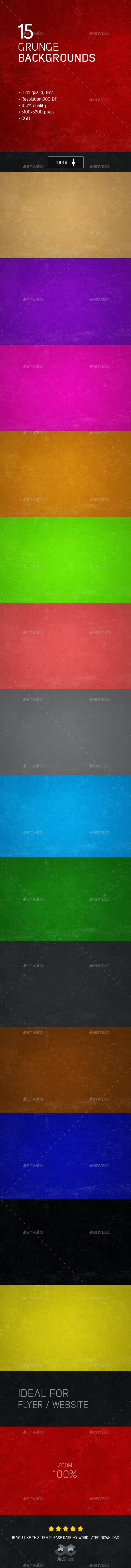 15 Grunge Backgrounds - Backgrounds Graphics
