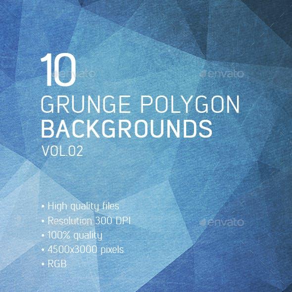 10 Grunge Polygon Backgrounds vol.02