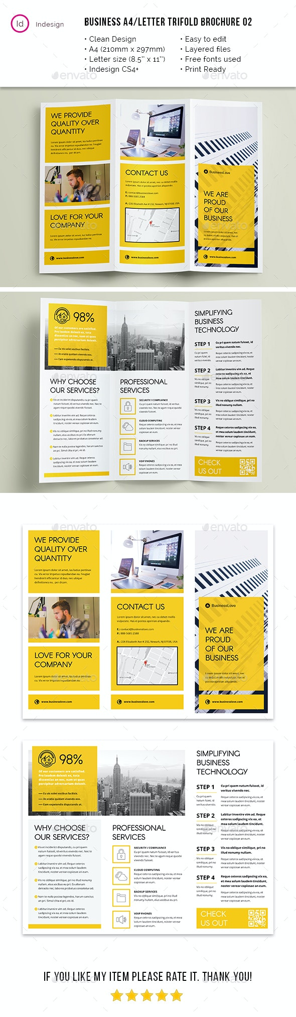 Clean Business A4 / Letter Trifold 02 - Corporate Brochures