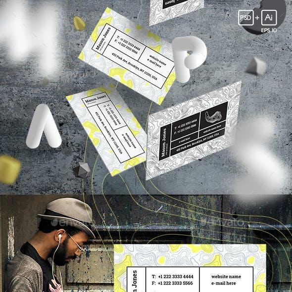"""Maps & Bar"" Business Card Template"