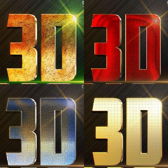 10 3D Text Styles N3
