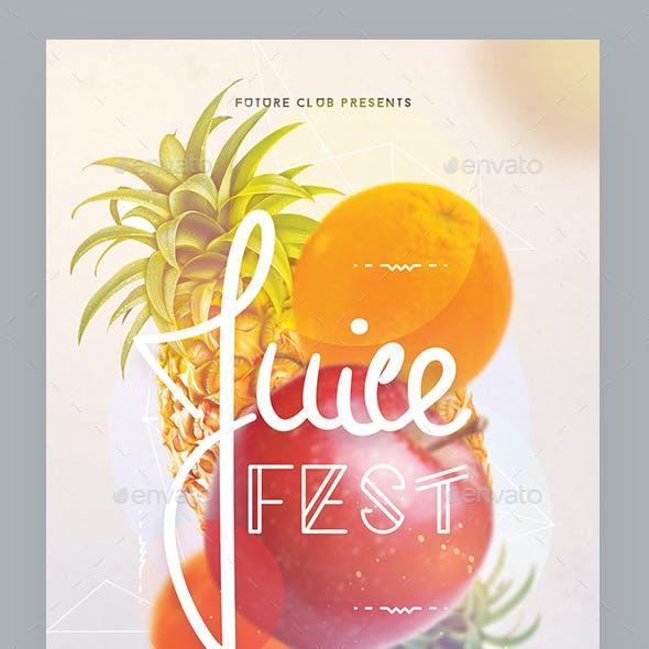 Juice Fest Party Flyer