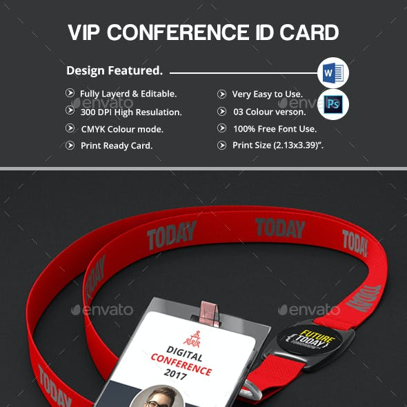 Conference VIP Pass ID Card