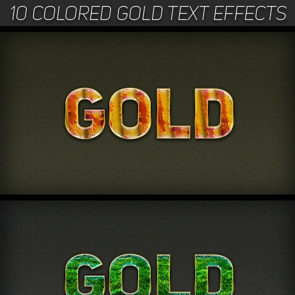 Colored Gold Text Effects