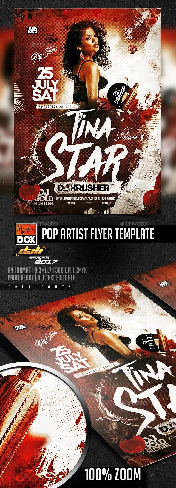 Pop Artist Flyer Template - Flyers Print Templates