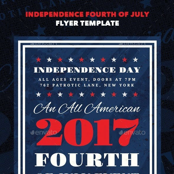 Independence - Fourth of July Flyer Template