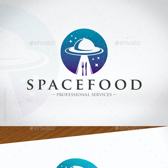 Ufo Food Logo Template