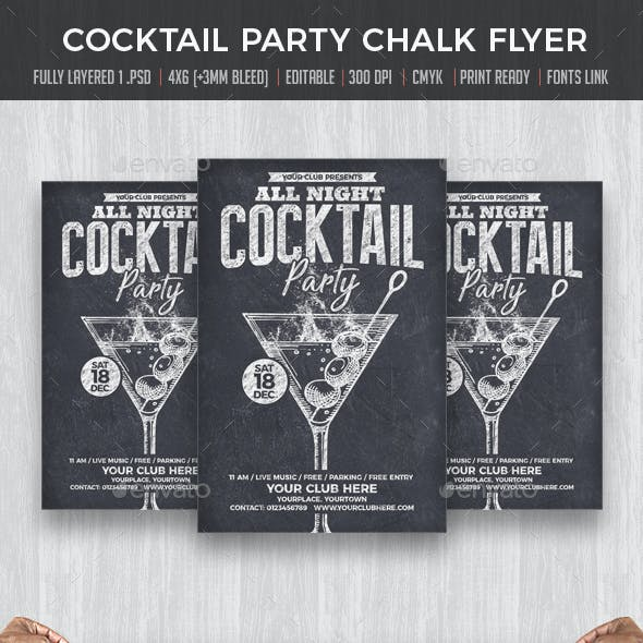 Cocktail Party Chalk flyer