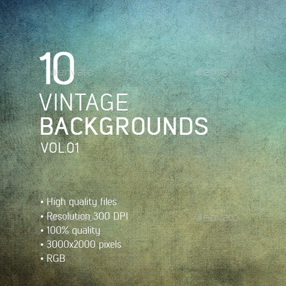 10 Vintage Backgrounds vol.01