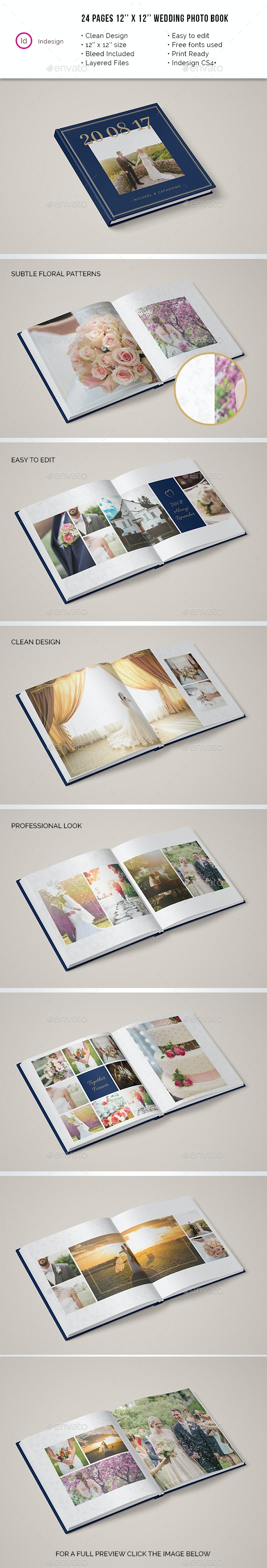 24 pages Wedding Photobook 12x12 Brochure - Catalogs Brochures