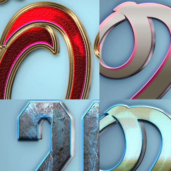 3D Text Styles N1