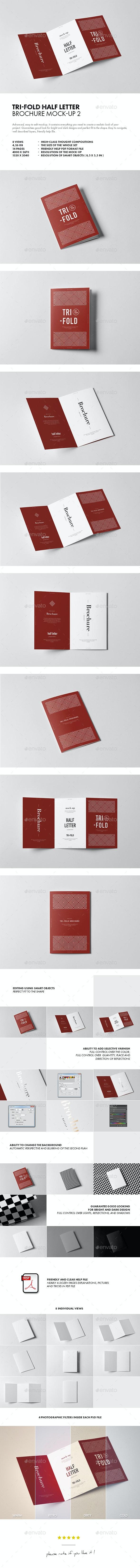 Tri-Fold Half Letter Brochure Mock-up 2 - Brochures Print