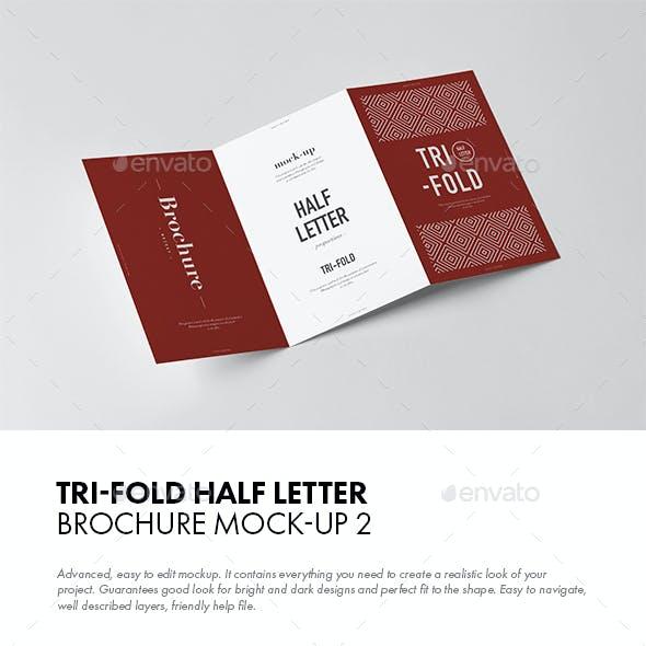 Tri-Fold Half Letter Brochure Mock-up 2