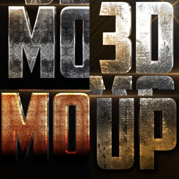 10 3D Text Styles N4