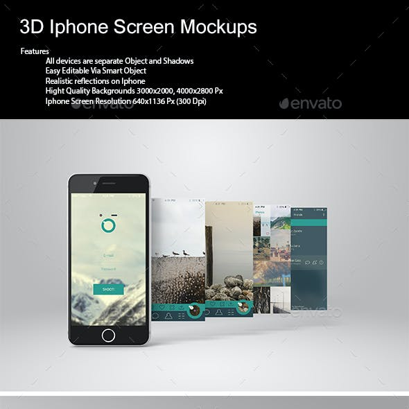 3D Phone Screen Mock-Up