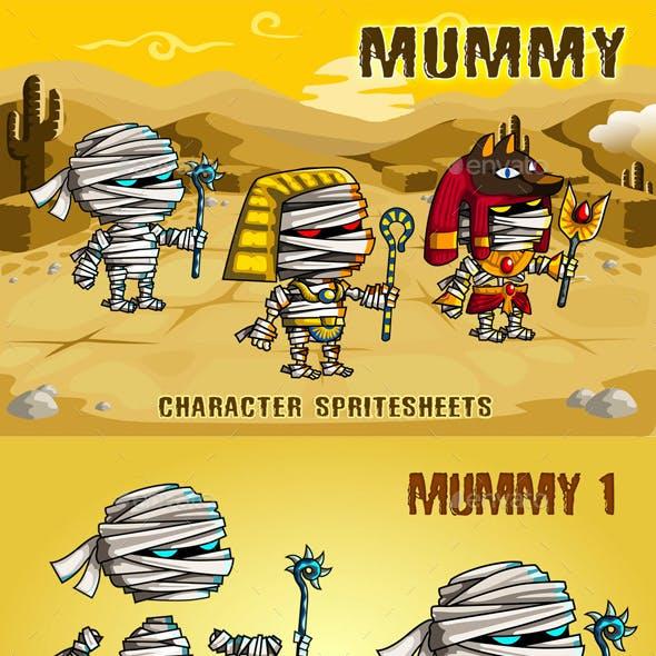 Mummies 2D Game Character Sprite Sheet