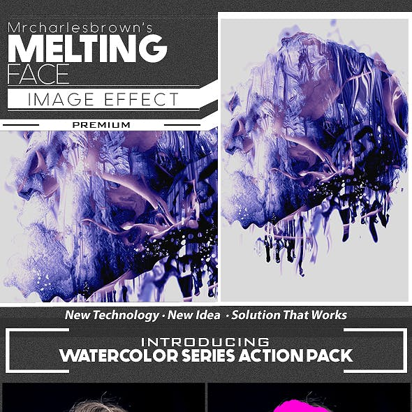 Melting Face Image Effect