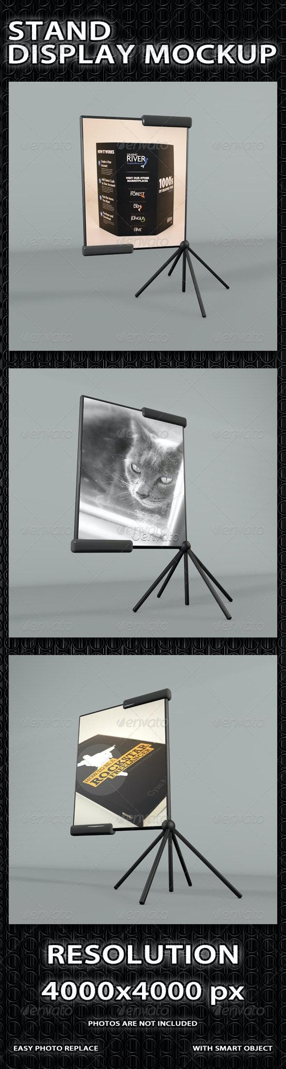 Professional Stand Display Mockup - Signage Print