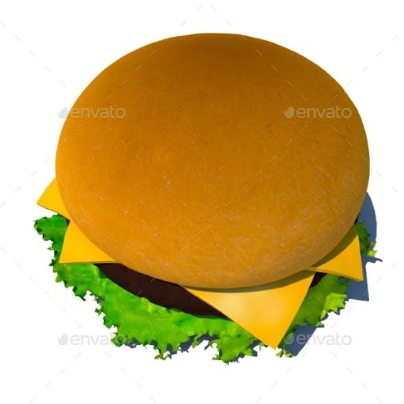 The Perfect Hamburger 3D Render