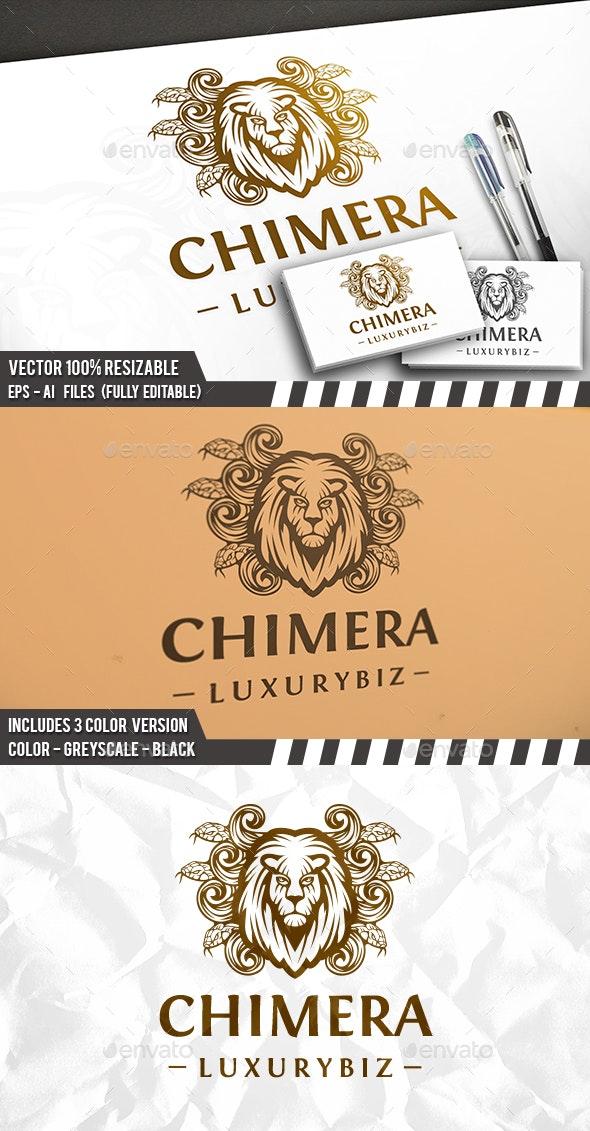 Chimera Lion Head Logo