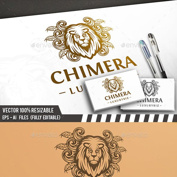 Chimera Lion Head Logo