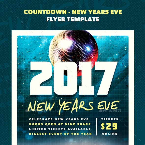 Countdown - New Years Eve Flyer Template