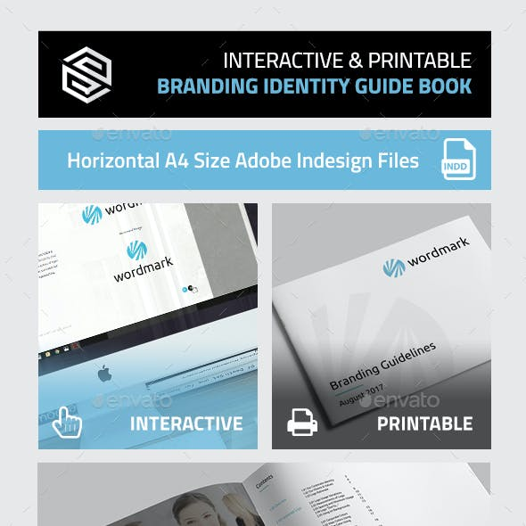 Interactive & Printable Branding Identity Guidelines Book
