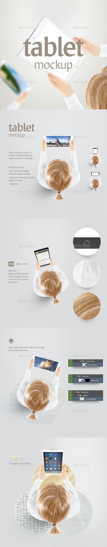 Tablet Mockup - Displays Product Mock-Ups