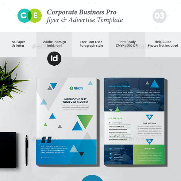 Corporate Business Pro Double Sided Flyer V03