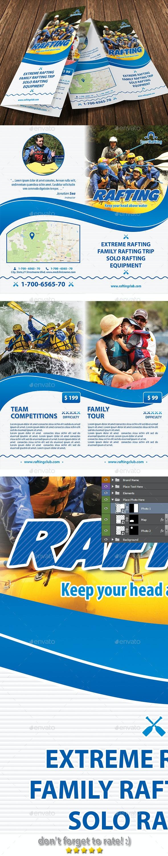 Rafting Camp Bifold Brochure 14 - Brochures Print Templates