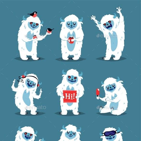 Yeti Abominable Snowman, Bigfoot Sasquatch