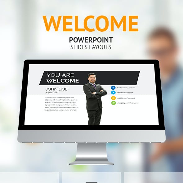 Welcome - Powerpoint Presentation Slides Layouts