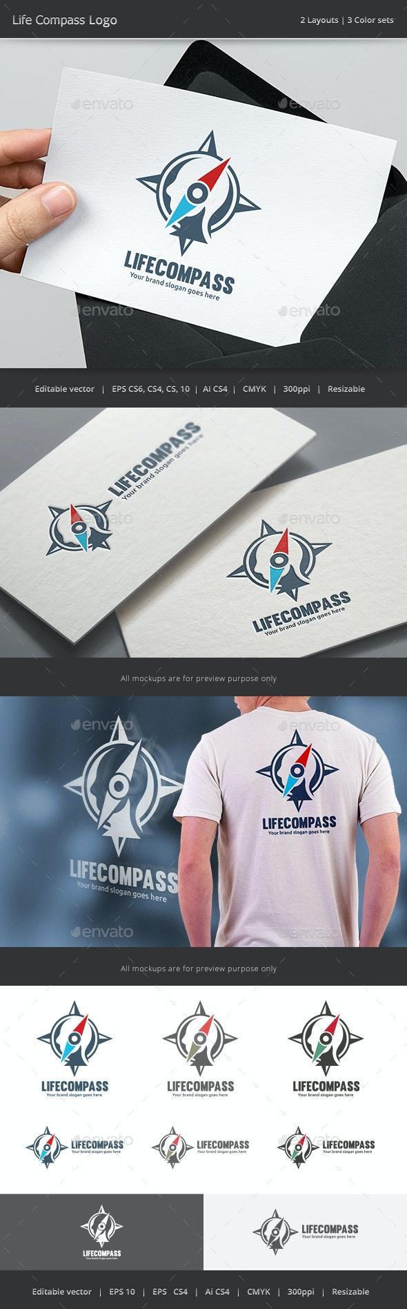 Life Compass Logo - Vector Abstract