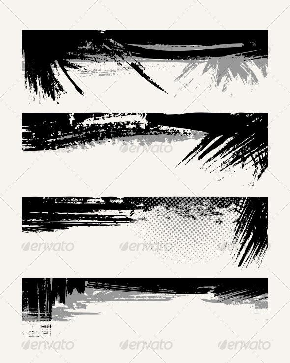 Set of grunge edges - Backgrounds Decorative