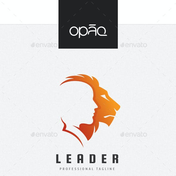 Human And Lion Leaders Logo