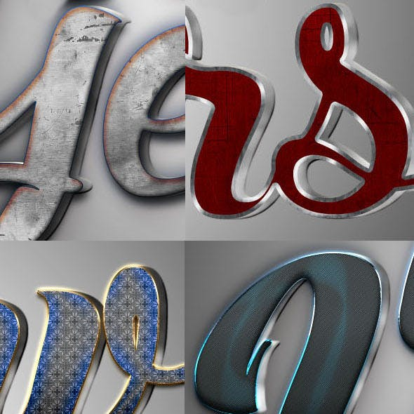 3D Text Styles N2