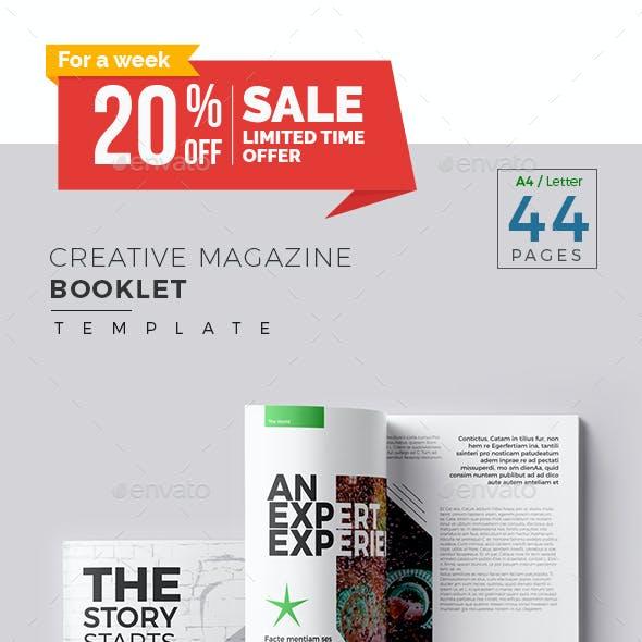 Creative Magazine Booklet Template