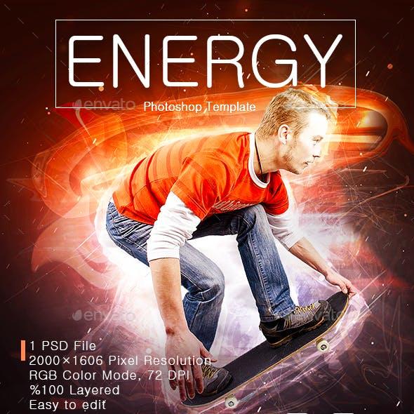 Energy Photoshop Template