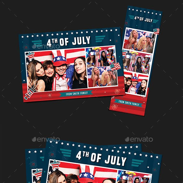 4th of July Photo Booth Template
