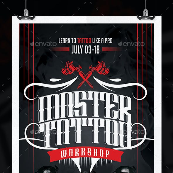 Tattoo Expo Workshop Flyer