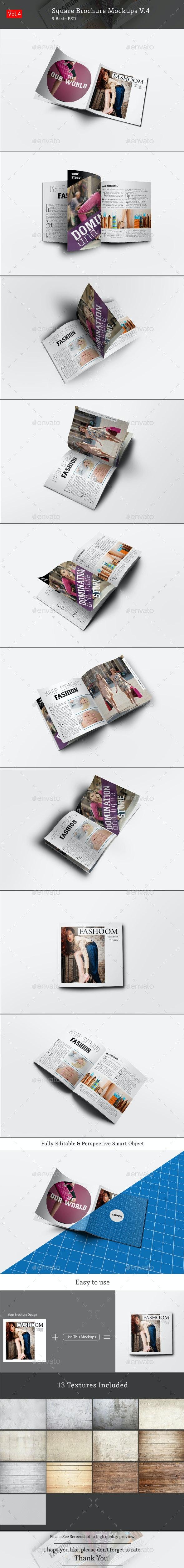 Square Brochure Mockups V.4 - Brochures Print