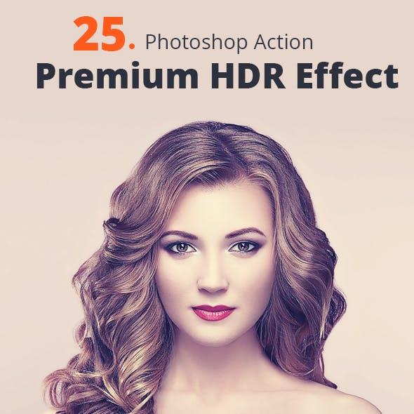 25 Premium HDR Effect Action