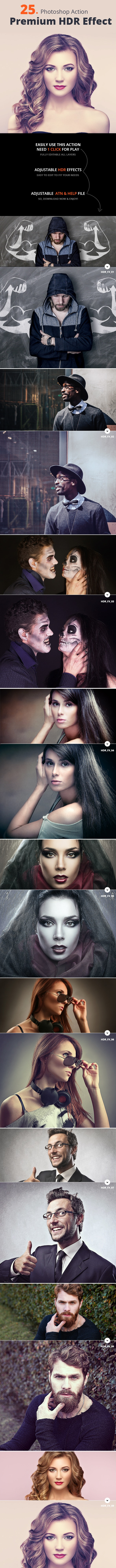 25 Premium HDR Effect Action - Photo Effects Actions